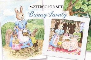 SALE! Happy Easter - Watercolor Set
