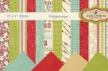 Joyful Christmas Mega Digital Paper-