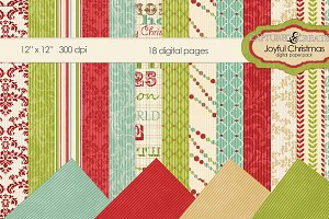 Joyful Christmas Mega Digital Paper-