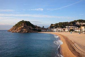 Beach in Tossa de Mar in Spain