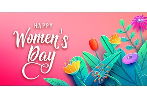 International Womens Day banner with