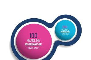 Circle, round chart, infographics