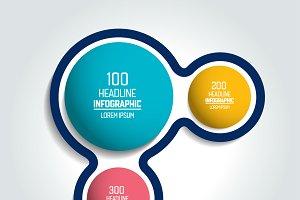 Circle, round chart, infographic