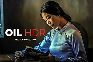 Oil HDR Photoshop Action