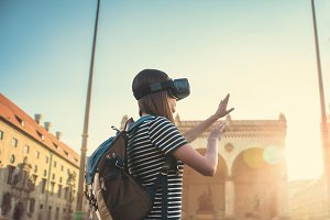 The concept of virtual tourism.