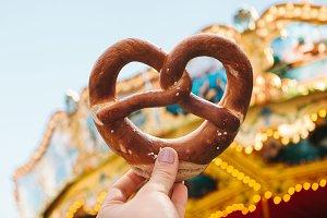 A traditional German pretzel.