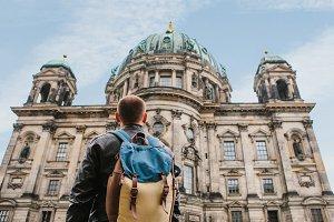 Tourist sightseeing in Berlin