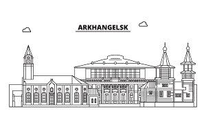 Russia, Arkhangelsk. City skyline