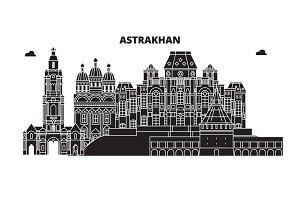 Russia, Astrakhan. City skyline