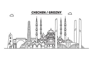 Russia, Chechen, Grozny. City