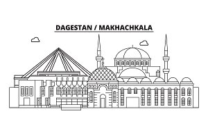 Russia, Makhachkala. City skyline