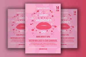 Valentine's Day Poster With Lips