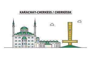 Russia, Cherkessk. City skyline