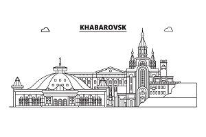 Russia, Khabarovsk. City skyline