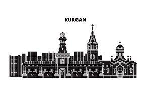 Russia, Kurgan. City skyline