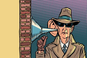 spy or secret agent of the state