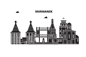 Russia, Murmansk. City skyline