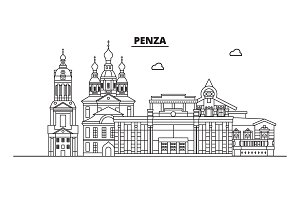Russia, Penza. City skyline