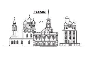 Russia, Ryazan. City skyline