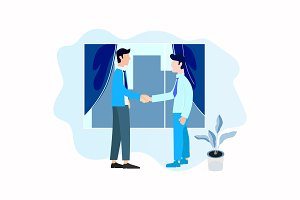 Handshake Businessman with Business