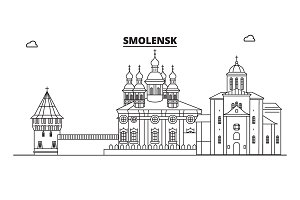 Russia, Smolensk. City skyline