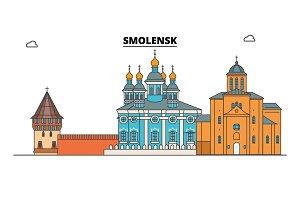 Russia, Smolensk. City skyline