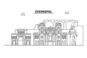 Russia, Stavropol. City skyline