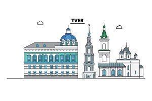 Russia, Tver. City skyline