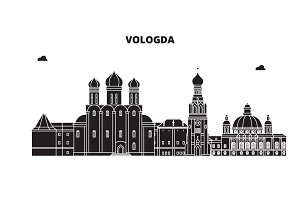 Russia, Vologda. City skyline