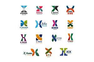 X letter icons for business