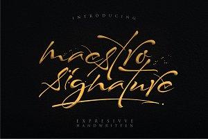 Maestro Signature // Expresivve Font