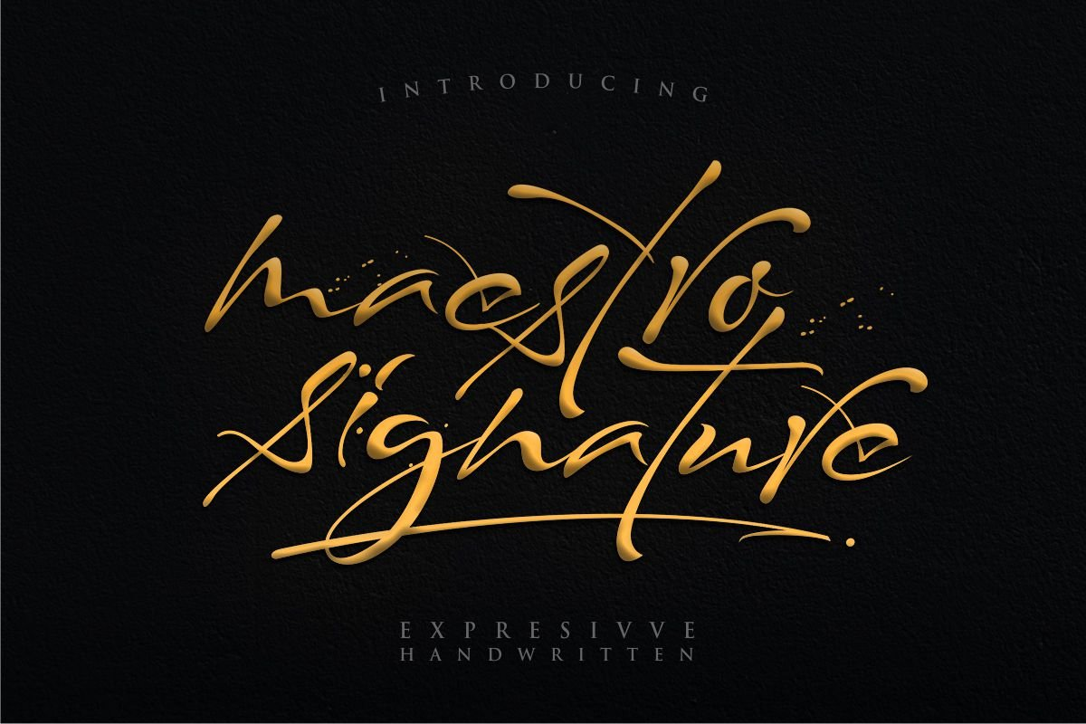 Share Font Maestro Signature by typelinestudio