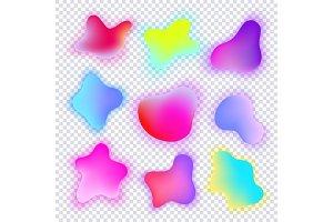 Vivid gradient spots set with