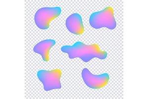 Vector vivid gradient spots set