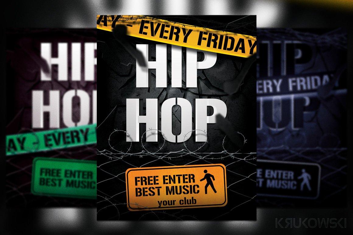 Hip Hop Flyer Flyer Templates Creative Market