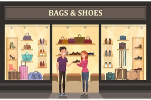 Bags and shoes shop