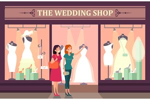 Wedding shop showcase