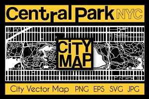 City Map of New York Central Park