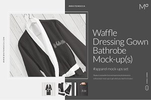 Waffle Dressing Gown Mock-ups Set