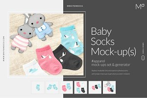 Baby Socks Mock-ups Set & Generator