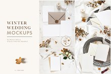 Winter wedding mockups & photos by  in Product Mockups