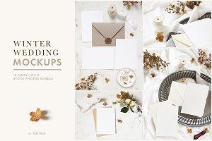 Winter wedding mockups & photos