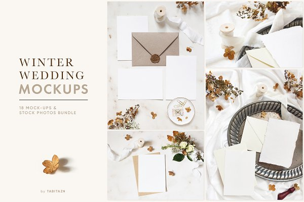Product Mockups: Tabita's shop - Winter wedding mockups & photos