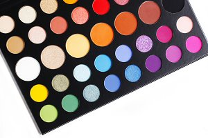 Colorful make up eye shadow