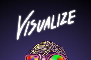 Visualize comic style vector