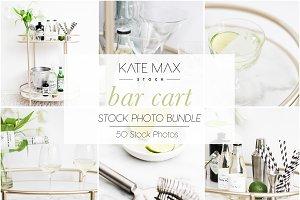 Bar Cart Styled Stock Photo Bundle