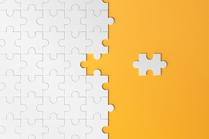 Jigsaw puzzle, pattern texture with