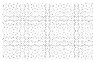 Jigsaw puzzle template outline, patt