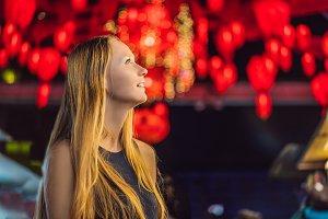 Woman celebrate Chinese New Year