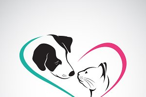 Vector of dog and cat. Pet. Animals.